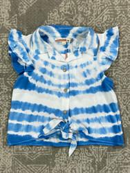 Vintage Havana Blue Tie Dye Top