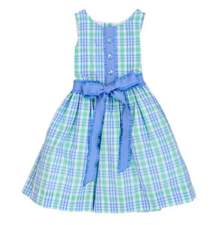Bailey Boys Watercolor Plaid Seersucker Dress