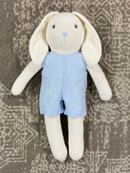 Bunny with Blue Gingham Romper