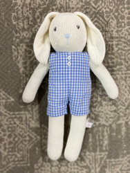 Bunny with Blue Check Romper