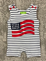 Be Mine American Flag Applique Shortall