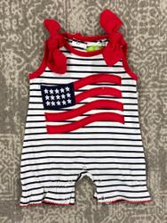 Be Mine American Flag Applique Romper