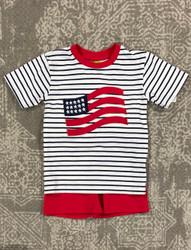 Be Mine American Flag Boys Applique Short Set