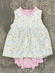 Anvy Kids Pink/Blue Daisy Addison Bloomer Set