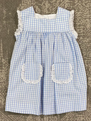 Anvy Kids Blue Check Ana Dress