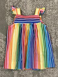 Anvy Kids Rainbow Stripe June Dress