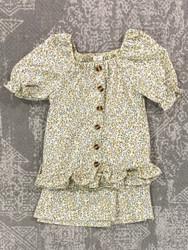 Hayden Yellow Floral Skirt Set