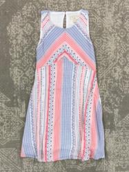 Hayden Red/Blue Print Dress