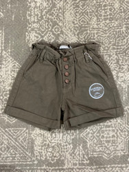 Tractr Olive Button Short