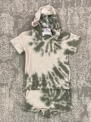Love Daisy Green Tie Dye Sweat Short Set