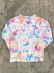 Love Daisy Tie Dye Splatter Sweat Top