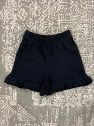 Lily Pads Black Ruffle Shorts