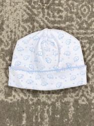 Kissy Kissy Blue Ele-Fun Print Hat