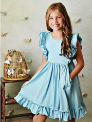 Serendipity Light Blue Bella Pocket Dress