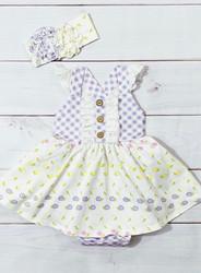 Serendipity Lemon Bloom Bubble Dress
