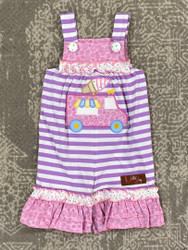Millie Jay Ice  Cream Applique Jay Romper