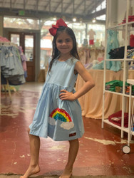Millie Jay Over the Rainbow Applqiue Dress