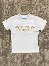Anavini Birthday Light Blue Smocked Tee