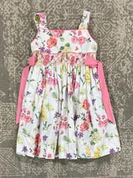 LuLu BeBe Watercolor Flower Smocked Waist Dress