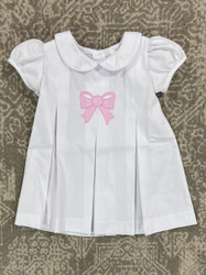 LuLu BeBe Pink Bow Embroidered Dress