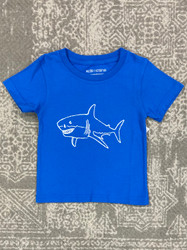 Mustard & Ketchup Kids Royal Blue Shark Tee