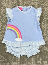 Claire & Charlie Rainbow Knit Bloomer Set