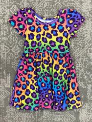Charlies Project Rainbow Leopard Twirl Dress