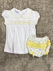 Magnolia Baby Faiths Classic Smocked Bloomer Set