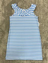 Funtasia Too Blue Stripe Knit Ruffle Dress