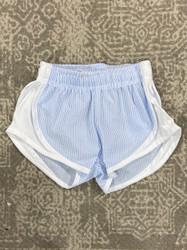 Funtasia Too Blue Seersucker/White Side Shorts