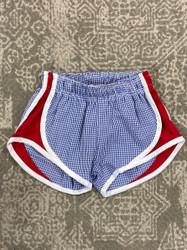 Funtasia Too Navy Seersucker/Red Side Shorts