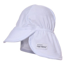Flap Happy White Swim Flap Hat