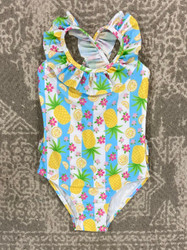 Flap Happy Pineapple Passion Crossback Swimsuit