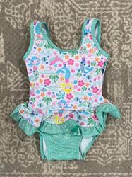Flap Happy Mermaid Lagoon Infant Ruffle Swimsuit