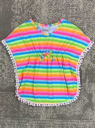 Flap Happy Neon Stripe Swimsuit Cover Up