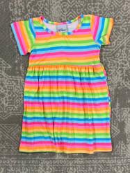 Flap Happy Neon Stripe Tee Dress