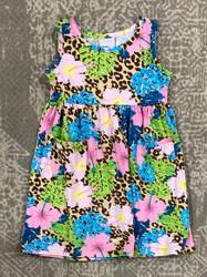Flap Happy Cheetah Blooms Tee Dress