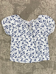 For All Seasons Floral Gauze Top