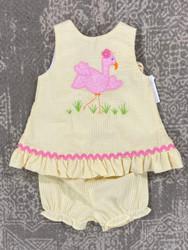 Bailey Boys Flamingo Flo Applique Bloomer Set