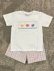 Delaney Plaid Fish Short Set