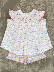 Delaney Beach Fun Smocked Short Set