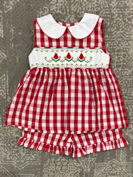 Delaney Red Check Watermelon Short Set