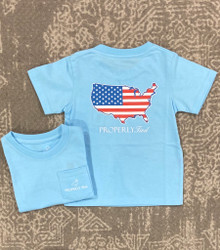 Properly Tied Powder Blue Old Glory Tee