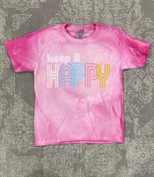 Pink Armadillos Pink Bleached Keep It Happy Tee