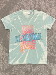 Pink Armadillos Dusty Bleached Leopard State Tee