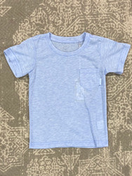 Properly Tied Baby Blue Heather Pocket Tee