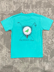 Properly Tied Soft Green Tee Time Performance Tee