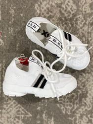 XTI Black/White Mesh Tennis Shoe