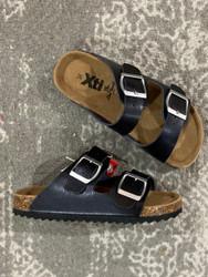 XTI Black 2 Strap Sandal