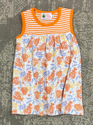 Lily Pads Lobster Print Sleeveless Dress